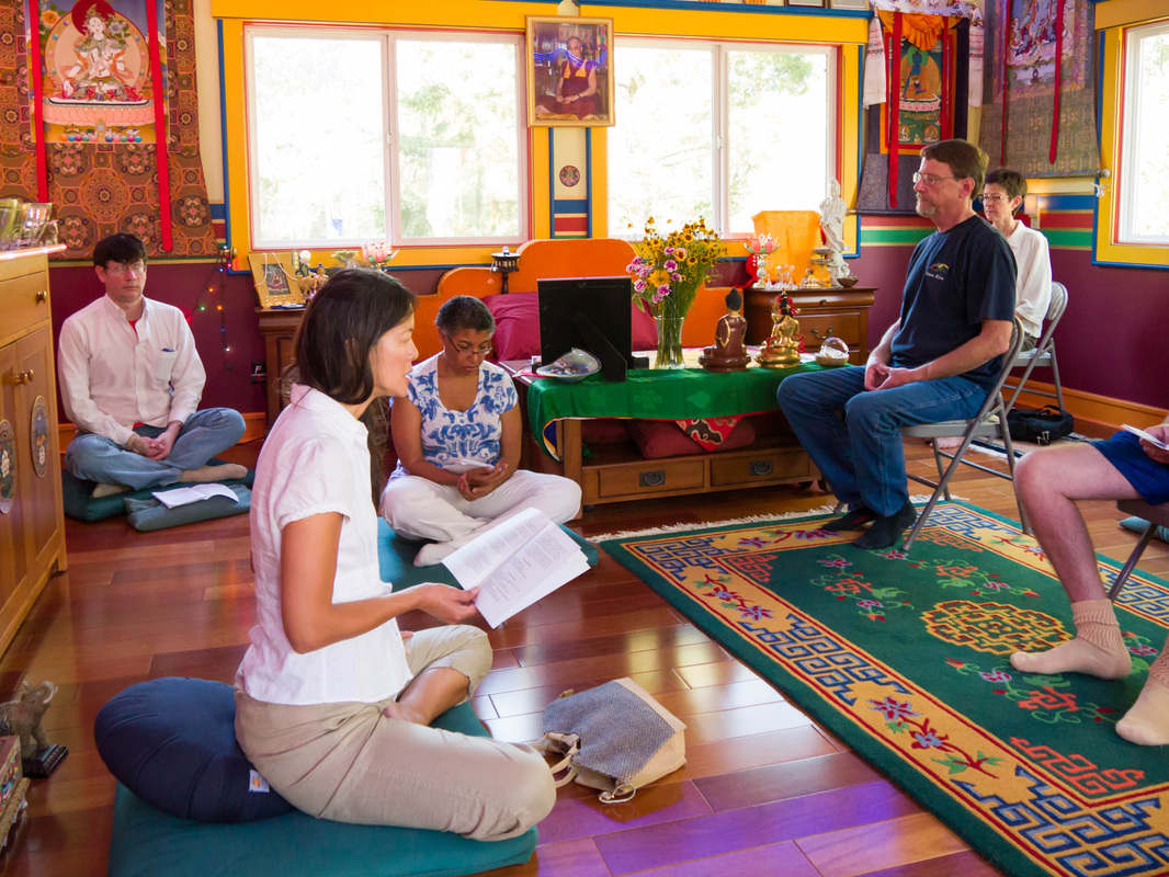 Practice Day at Kachoe Dechen Ling, Lama Zopa Rinpoche's residence in Aptos